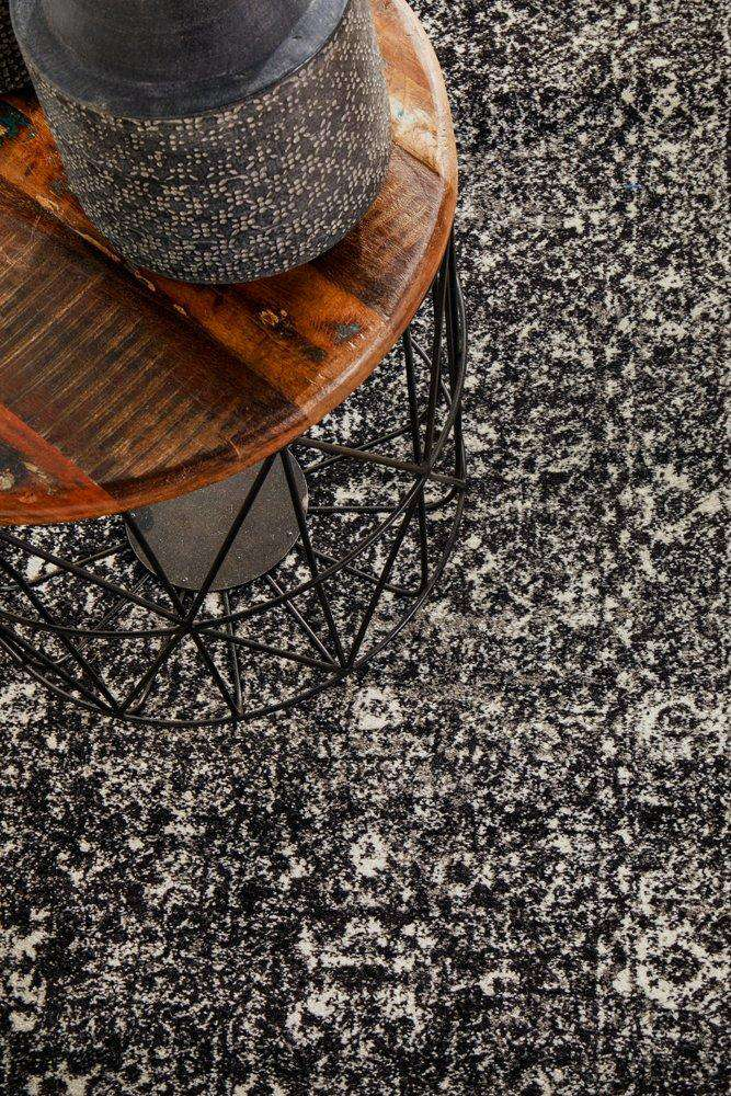 Estella Charcoal Transitional Runner Rug - Simple Style Co