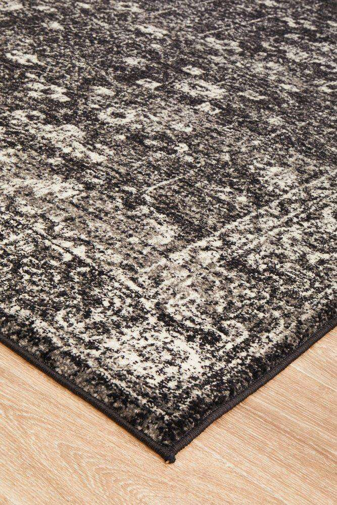 Estella Charcoal Transitional Rug - Simple Style Co