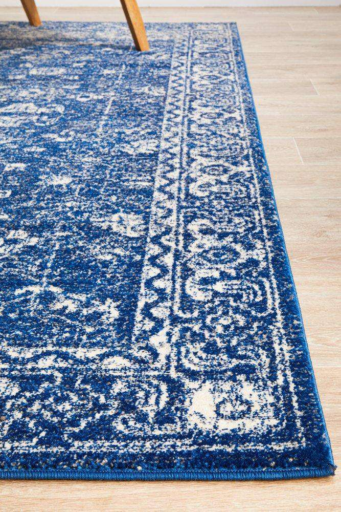 Estella Navy Transitional Rug - Simple Style Co
