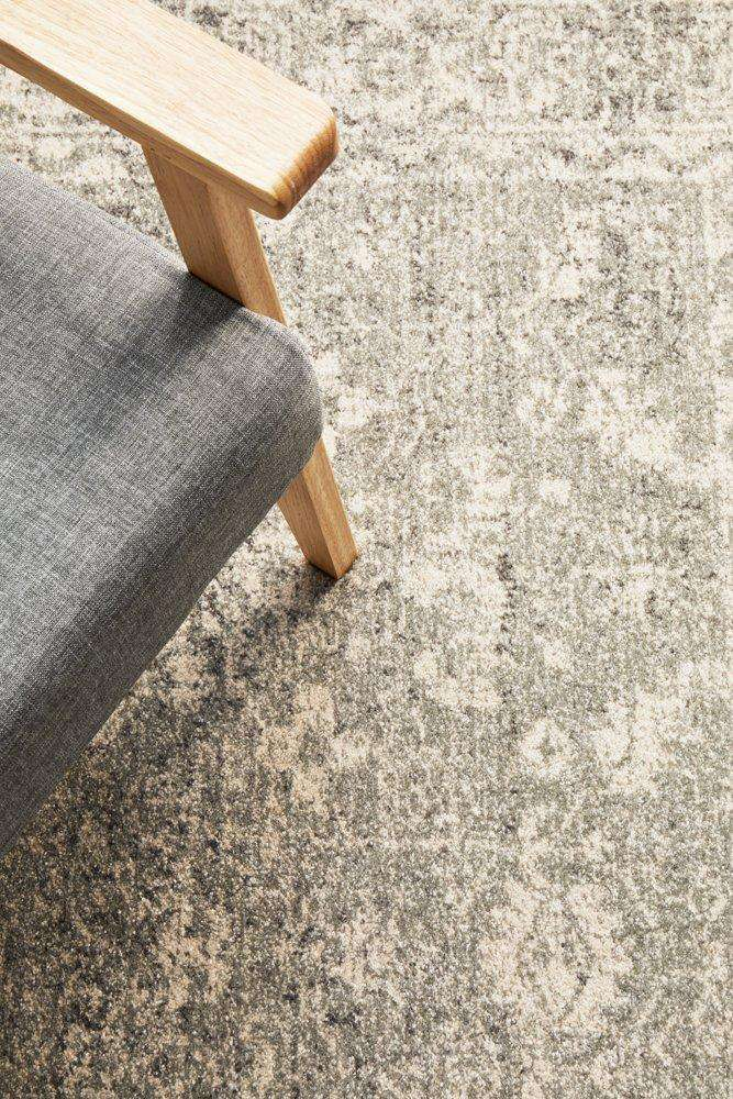 Estella Silver Transitional Rug - Simple Style Co