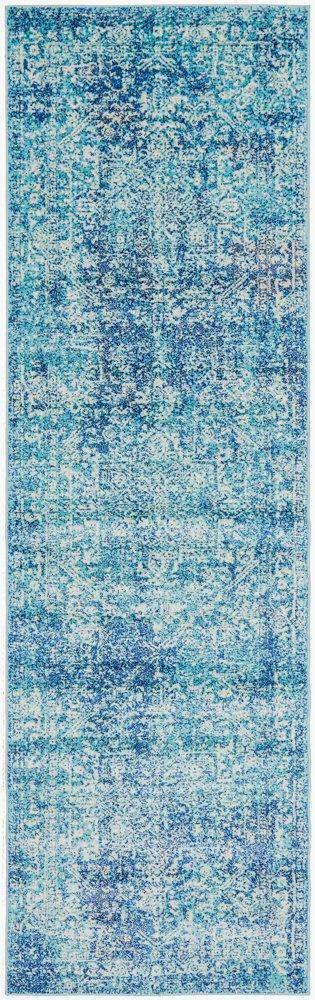 Valstad Blue Transitional Hallway Runner - Simple Style Co
