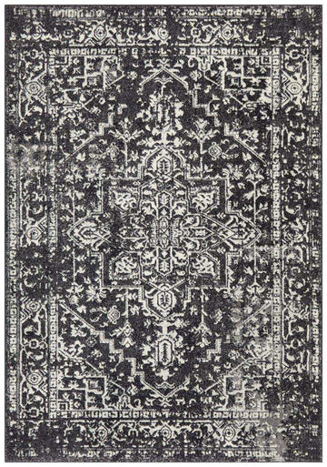 Valera Transitional Black Rug - Simple Style Co