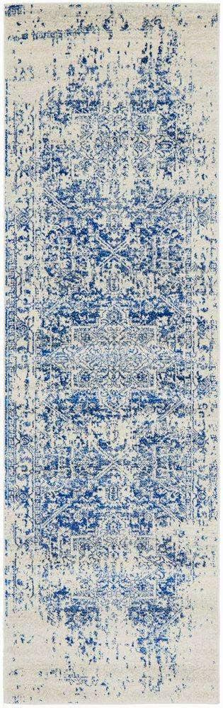 Valencia Blue Transitional Hallway Runner - Simple Style Co