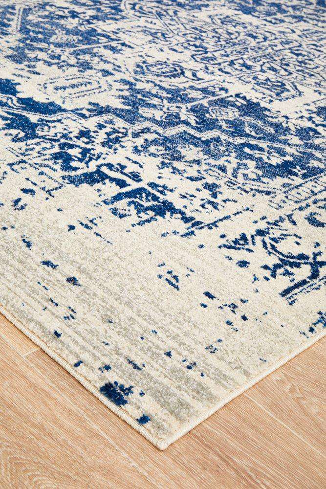 Valencia Blue Transitional Rug - Simple Style Co
