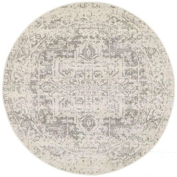 Simple Style Co: Bafra Distressed Transitional Round Rug | Buy Rugs Online