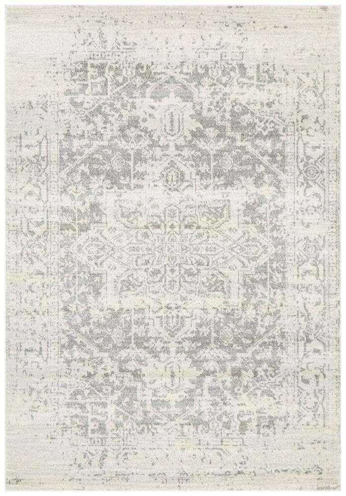 Bafra Distressed Grey & Ivory Transitional Rug - Simple Style Co