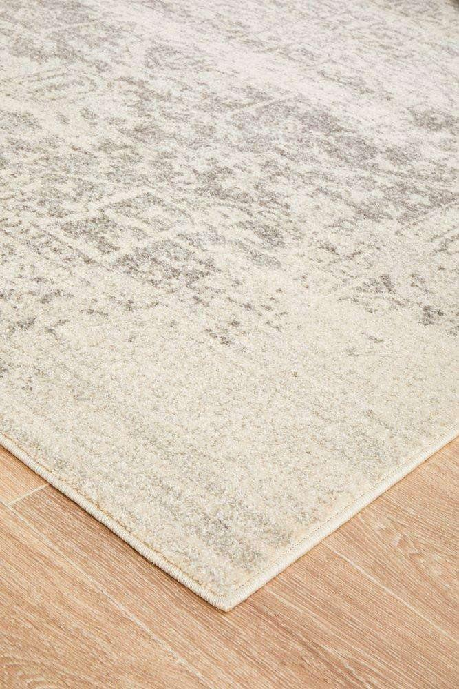 Bafra Distressed Grey & Ivory Transitional Rug