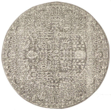 Madrid Grey Transitional Round Rug - Simple Style Co