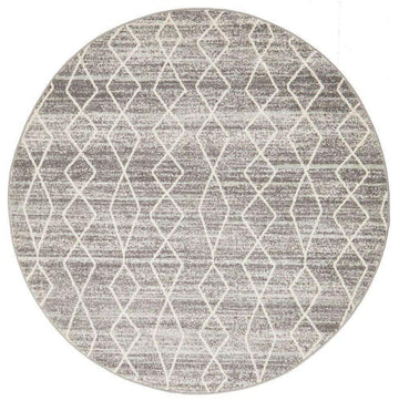 Remini Grey Distressed Round  Rug - Simple Style Co