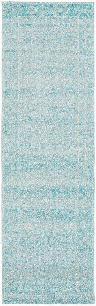 Florencia Blue Transitional Hallway Runner | Simple Style Co
