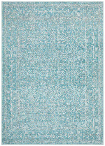 Simple Style Co: Florencia Transitional Blue Rug | Buy Rugs Online