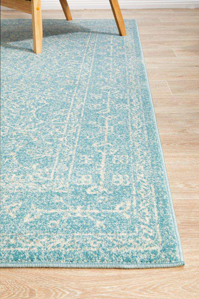 Florencia Blue Transitional Rug - Simple Style Co