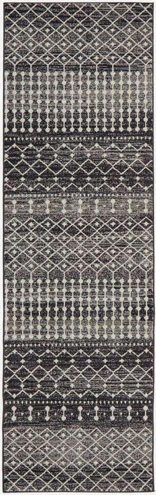 Gediz Black Transitional Runner Rug - Simple Style Co