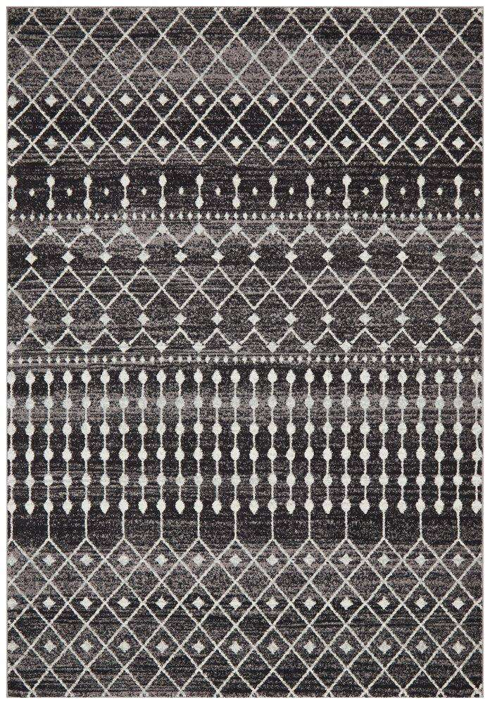Gediz Black Transitional Rug - Simple Style Co