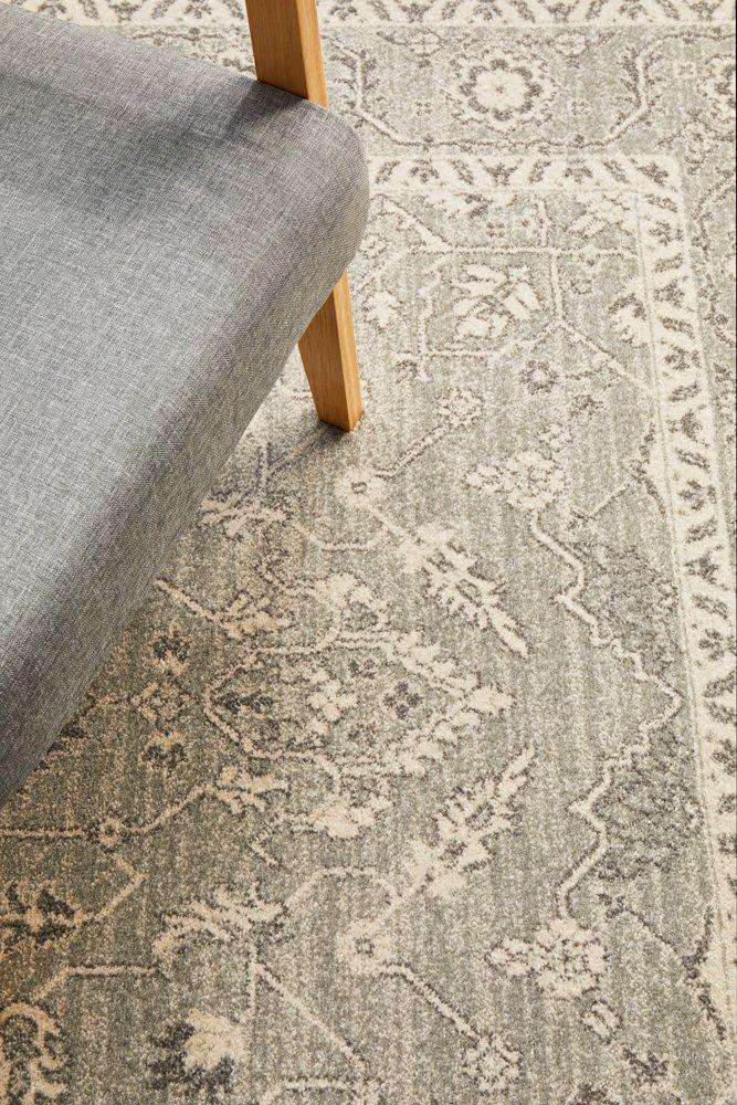 Verda Transitional Rug - Silver - Simple Style Co