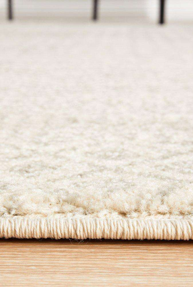Bodrum Grey & Ivory Distressed Diamond Rug - Simple Style Co