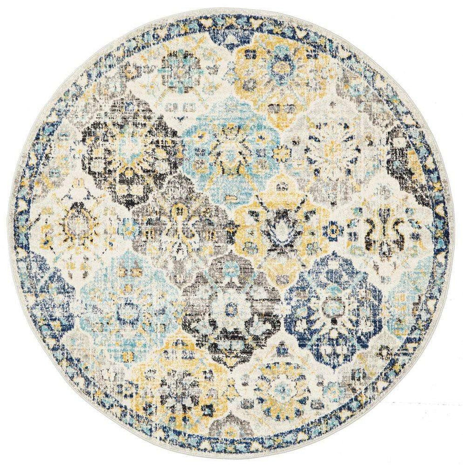 Poppy Multi Transitional Round Rug - Simple Style Co