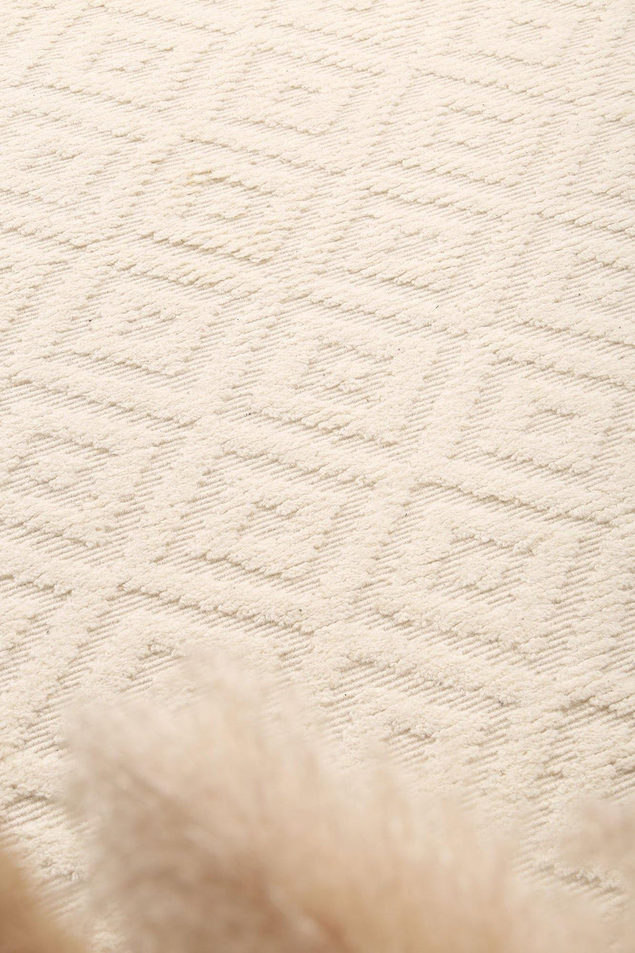 Leilani Plush Diamond Cream Rug