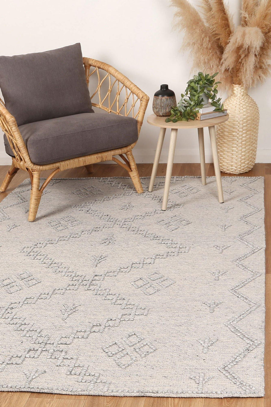 Leilani Boho Chic Grey Rug - Simple Style Co