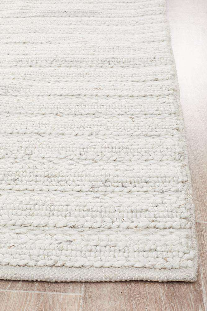 Mandurah Ivory Wool Rug - Simple Style Co
