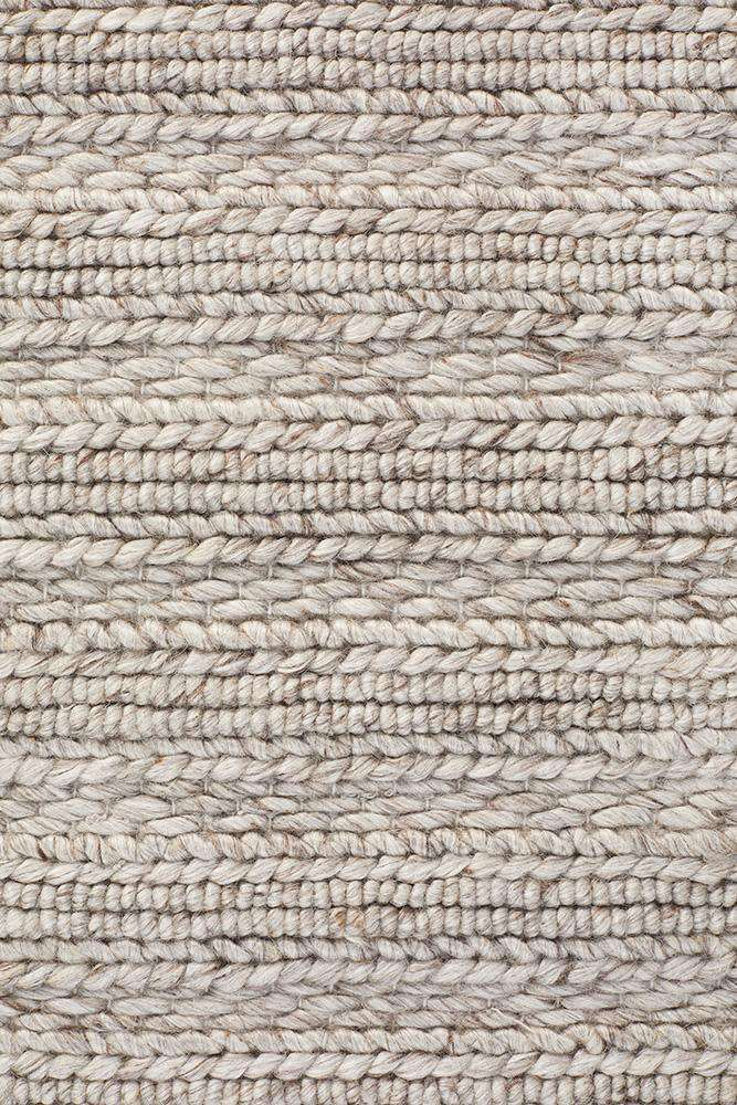 Mandurah Silver Grey Wool Rug - Simple Style Co