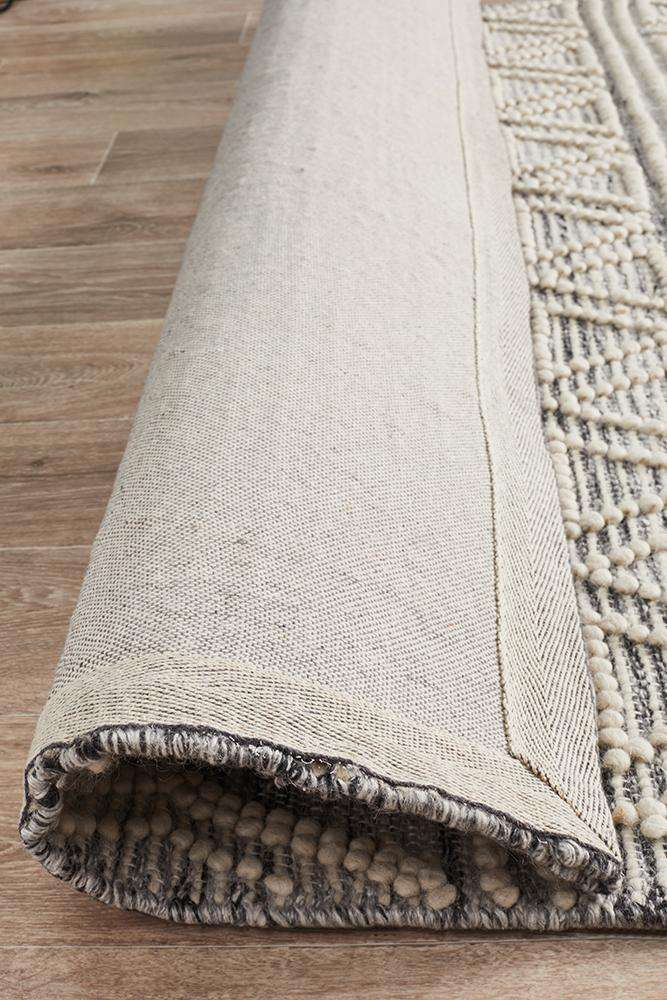 Esha Grey Tribal Wool Rug - Simple Style Co