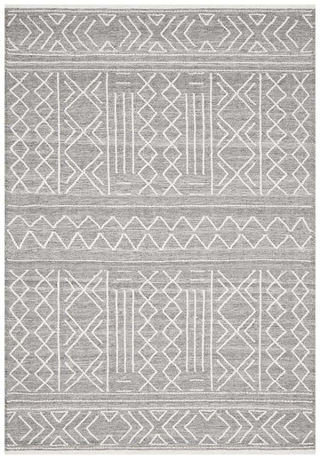 Simple Style Co: Arya Woven Rug Grey | Buy Rugs Online Australia