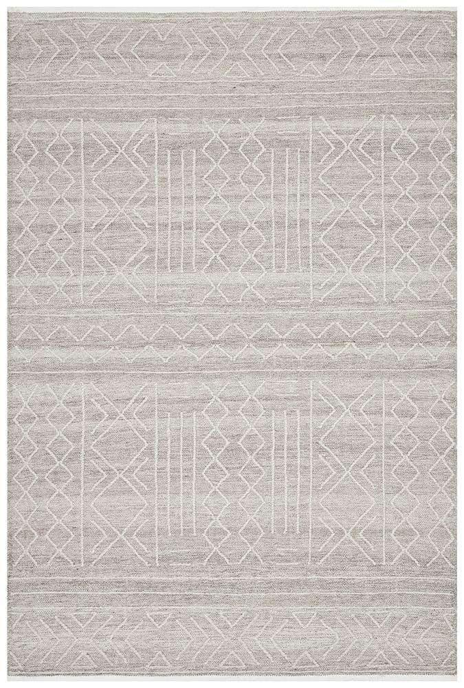 Arya Natural Stitch Woven Wool Rug - Simple Style Co