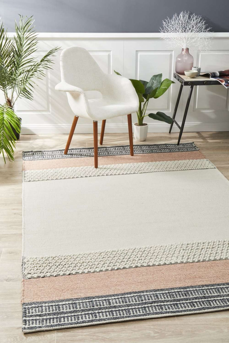 Elche Textured Rug - Peach