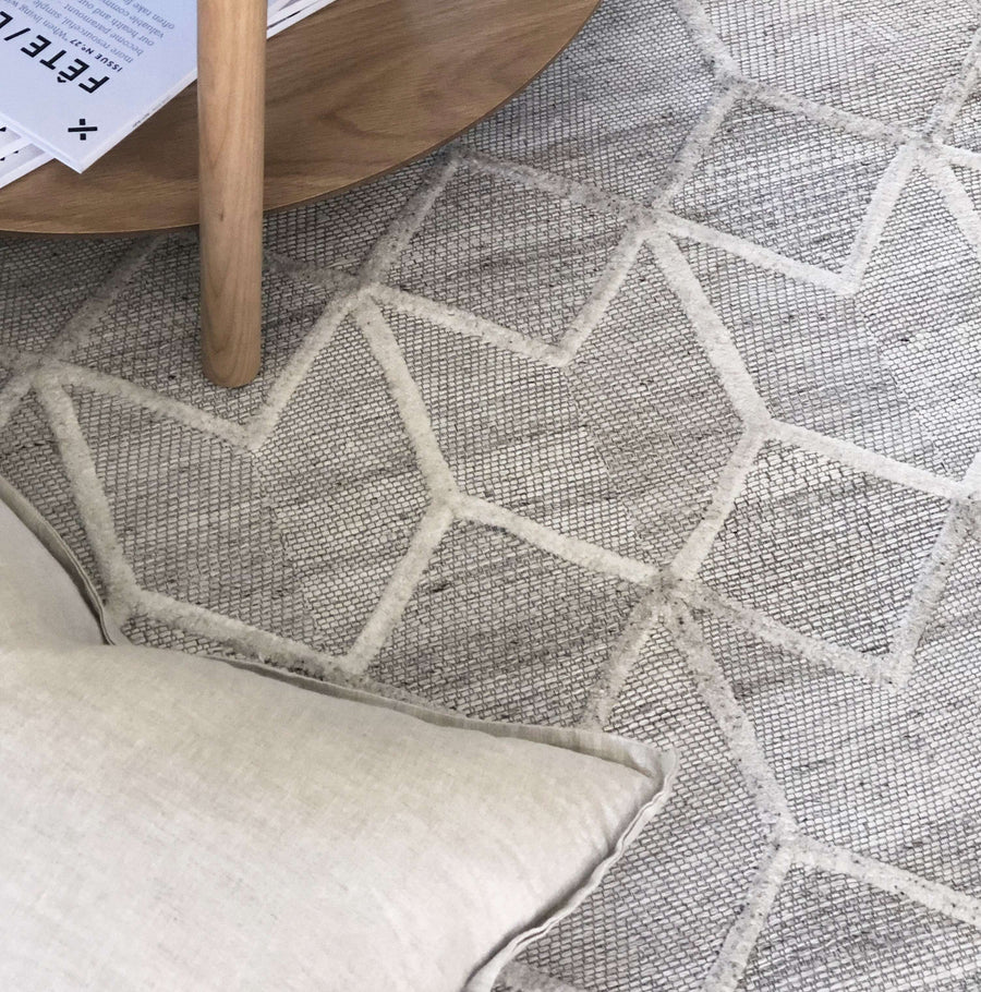 Simple Style Co Wescott Wool Rug Grey | Buy Wool Rugs Australia