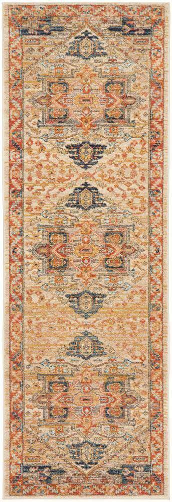 Alara Rust Transitional Runner Rug - Simple Style Co