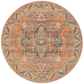 Aylin Multicoloured Transitional Round Rug - Simple Style Co