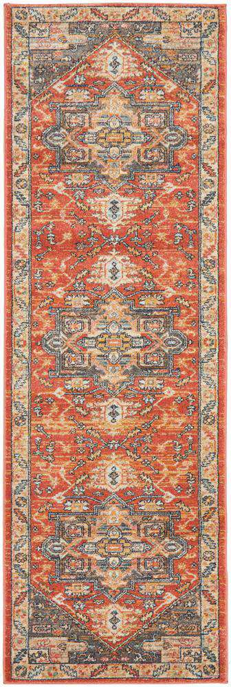 Elmas Terracotta Tribal Runner - Simple Style Co