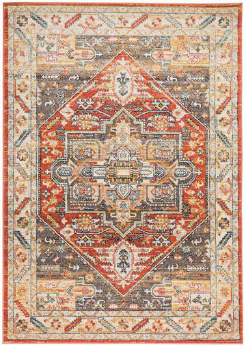 Elmas Terracotta Tribal Rug - Simple Style Co