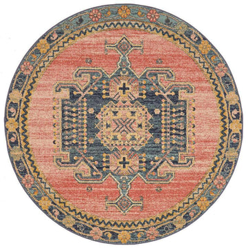 Simple Style Co: Amara Transitional Round Rug | Buy Round Rugs Online