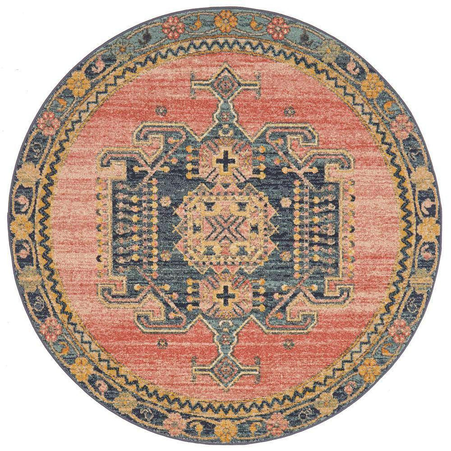 Amara Transitional Round Rug - Simple Style Co