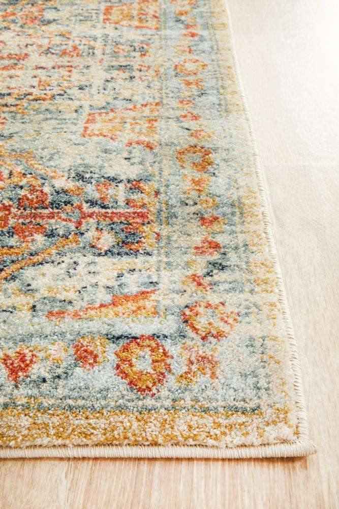 Faris Blue Tribal Runner Rug - Simple Style Co