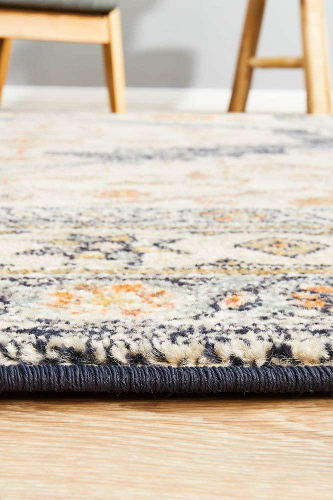 Nylah Navy Tribal Rug - Simple Style Co