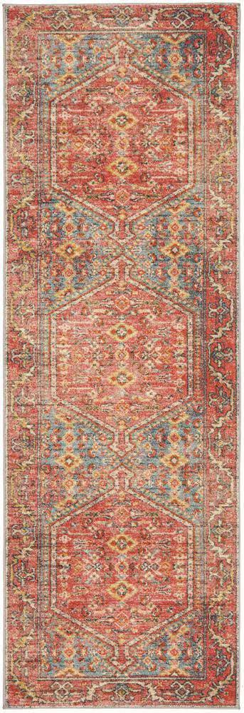 Zora Red Tribal Runner Rug - Simple Style Co