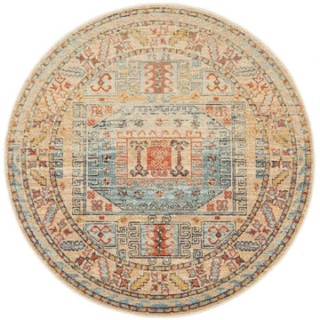 Legacy 859 Sky Blue Round Rug - Simple Style Co