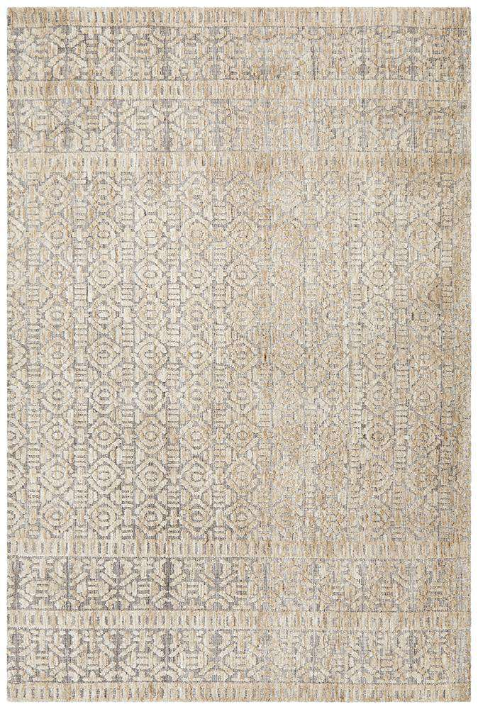 Simple Style Co: Odisha Tribal Rug Natural Grey | Free Delivery