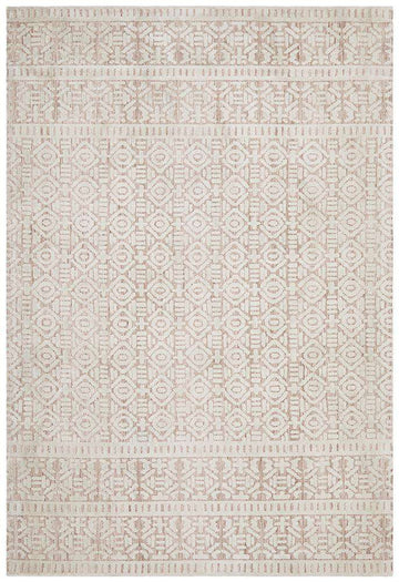Simple Style Co: Odisha Tribal Rug - Peach | Free Delivery | Shop Rugs