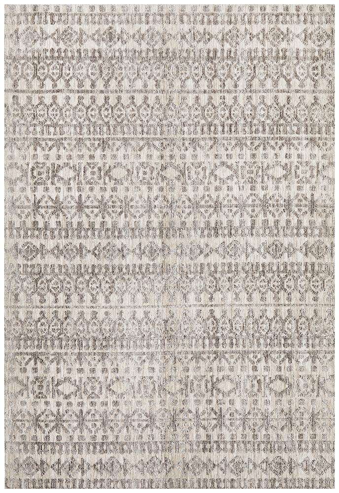 Simple Style Co: Orissa Tribal Rug Natural Grey | Free Delivery