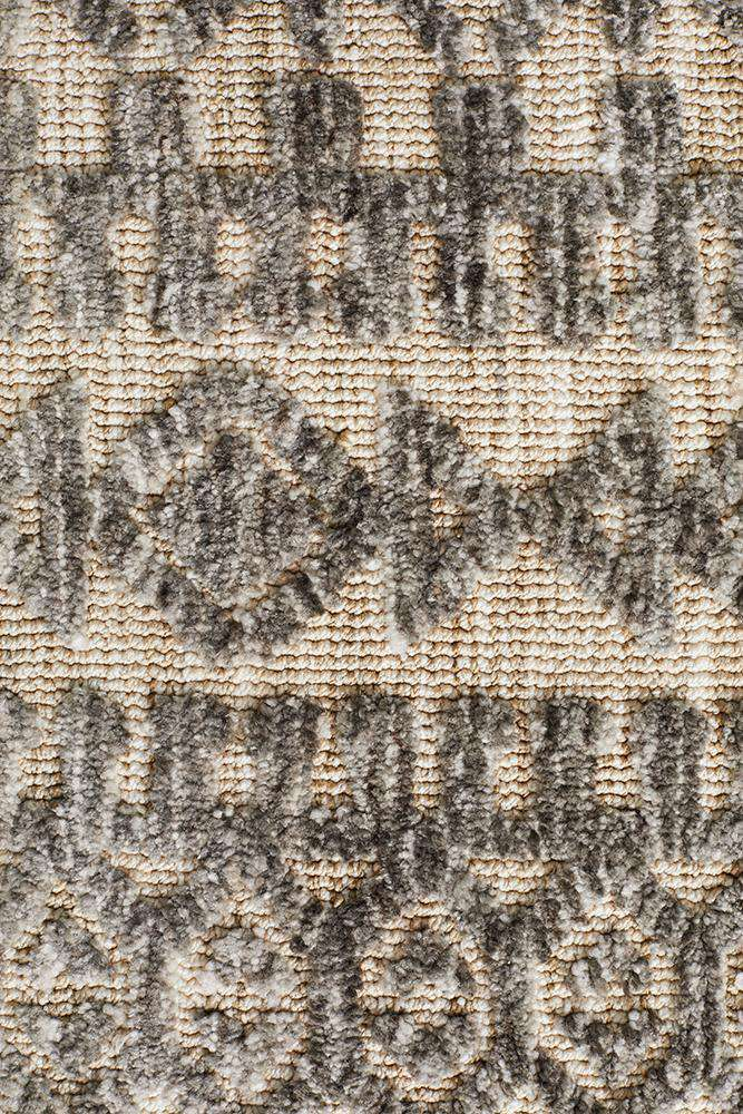 Orissa Tribal Rug - Natural Grey