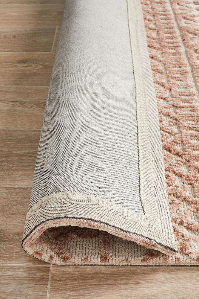Orissa Tribal Rug - Peach