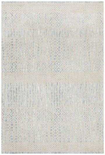 Kerala Tribal Rug Blue | Free Delivery Australia Wide | Buy Rugs Online