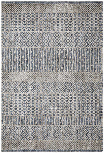Kerala Tribal Rug Steel | Free Delivery Australia Wide | Shop Rugs Online