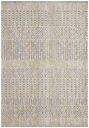 Kerala Tribal Rug Grey | Free Delivery Australia Wide | Shop Rugs Online