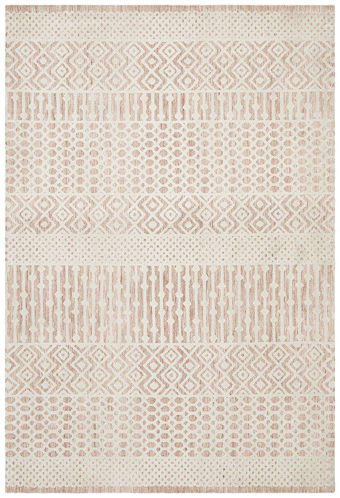 Kerala Tribal Rug Peach | Free Delivery Australia Wide | Buy Rugs Online