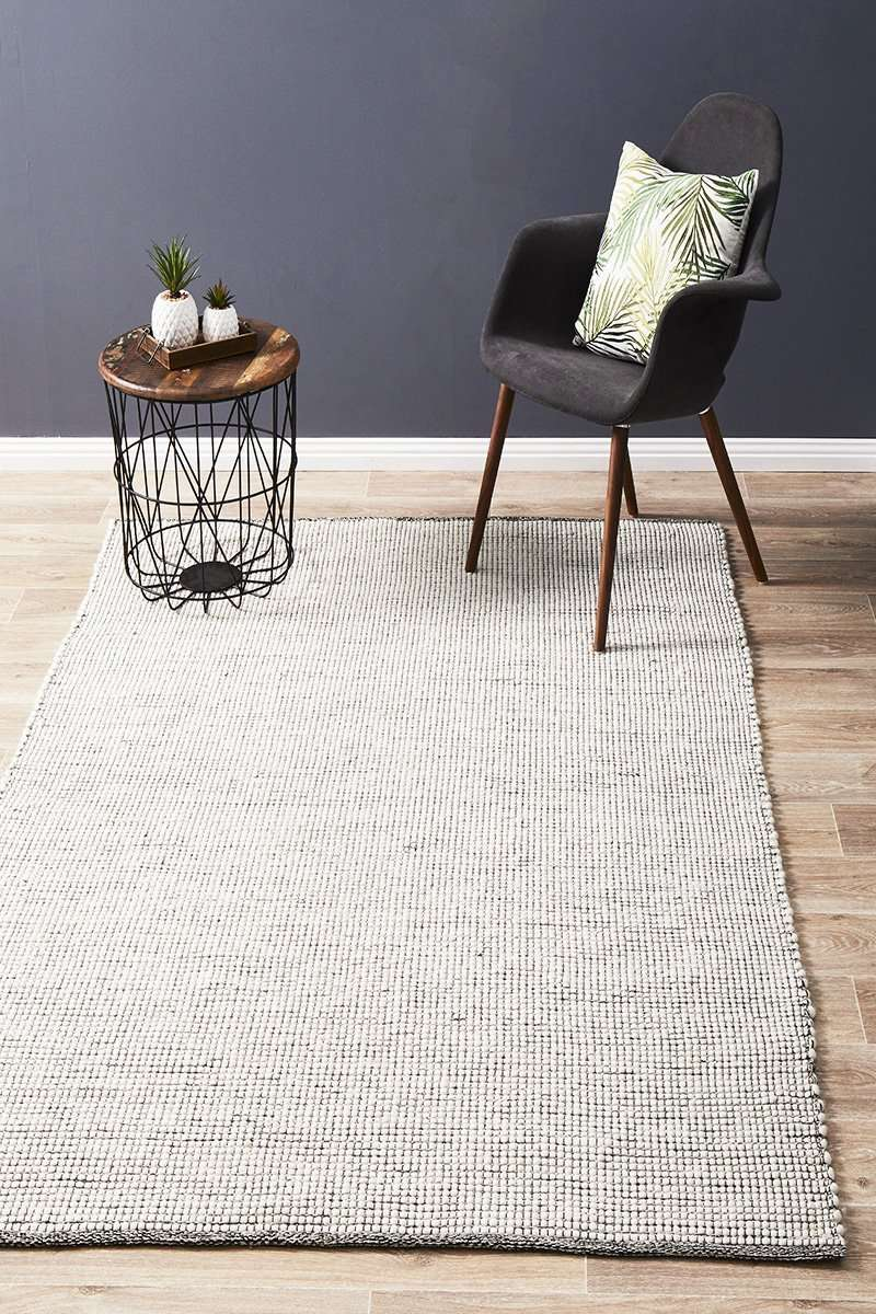 Brooklyn Wool Rug Black | Free Delivery Australia Wide | Simple Style Co